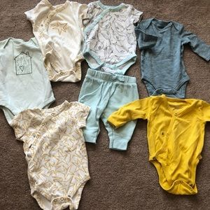 Gender neutral onesies, and matching set.